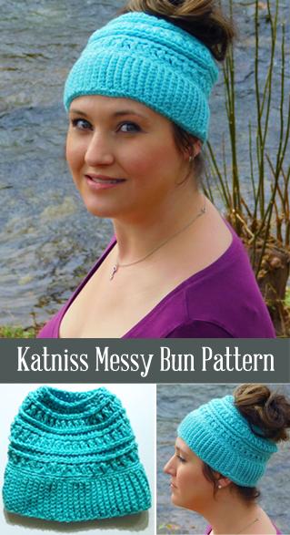 Free Messy Bun Katniss Hat Pattern 88917f114db
