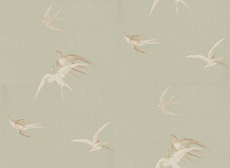 Swallows dviwsw102 sanderson wallpapers delicately - Sanderson swallows wallpaper pebble ...