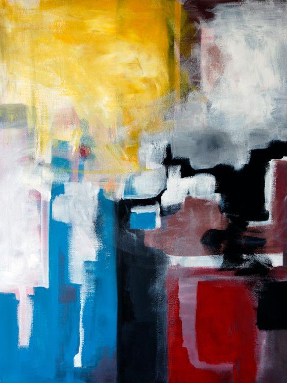 Summer composition 1 70x90 cm peinture 70x90x2 cm for Peinture geometrique contemporaine