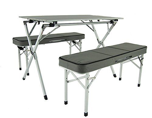 Onway Aluminum Portable Folding Roll Table Bench Set Camping Table Outdoor Table Table In Benches Foldable Camping Table Camping Furniture Table And Bench Set