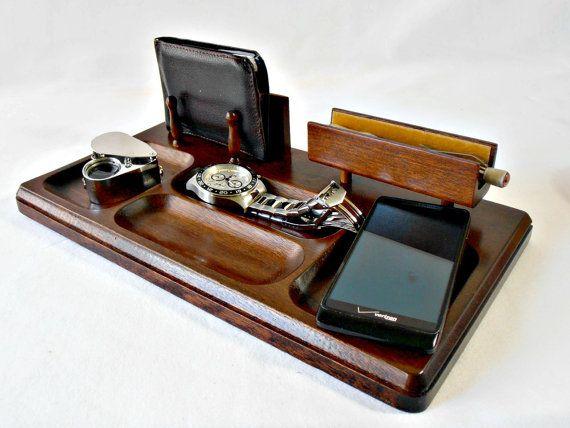 Best Vintage Dresser Valet Walnut Wood Accessory Caddy By 400 x 300