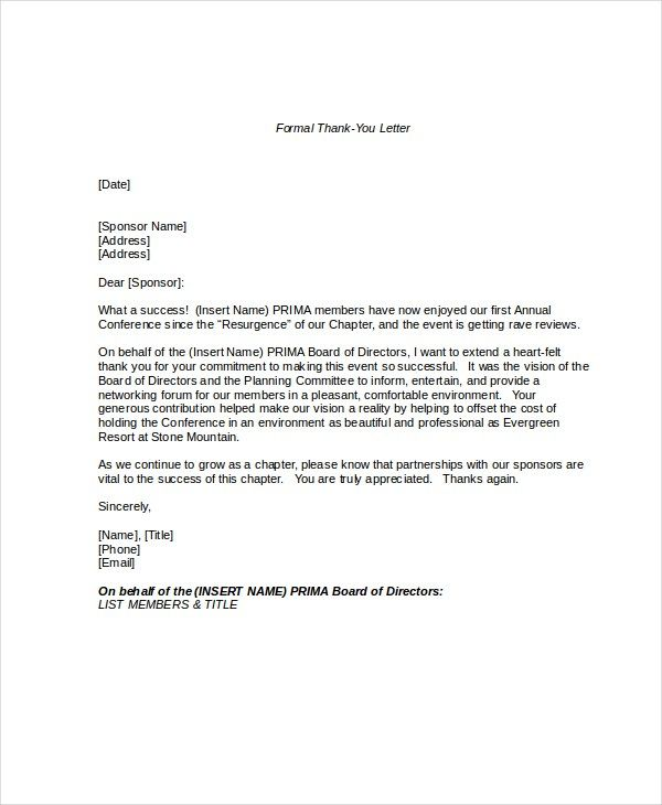 Formal Letter Format Sample Example Template  Source Template