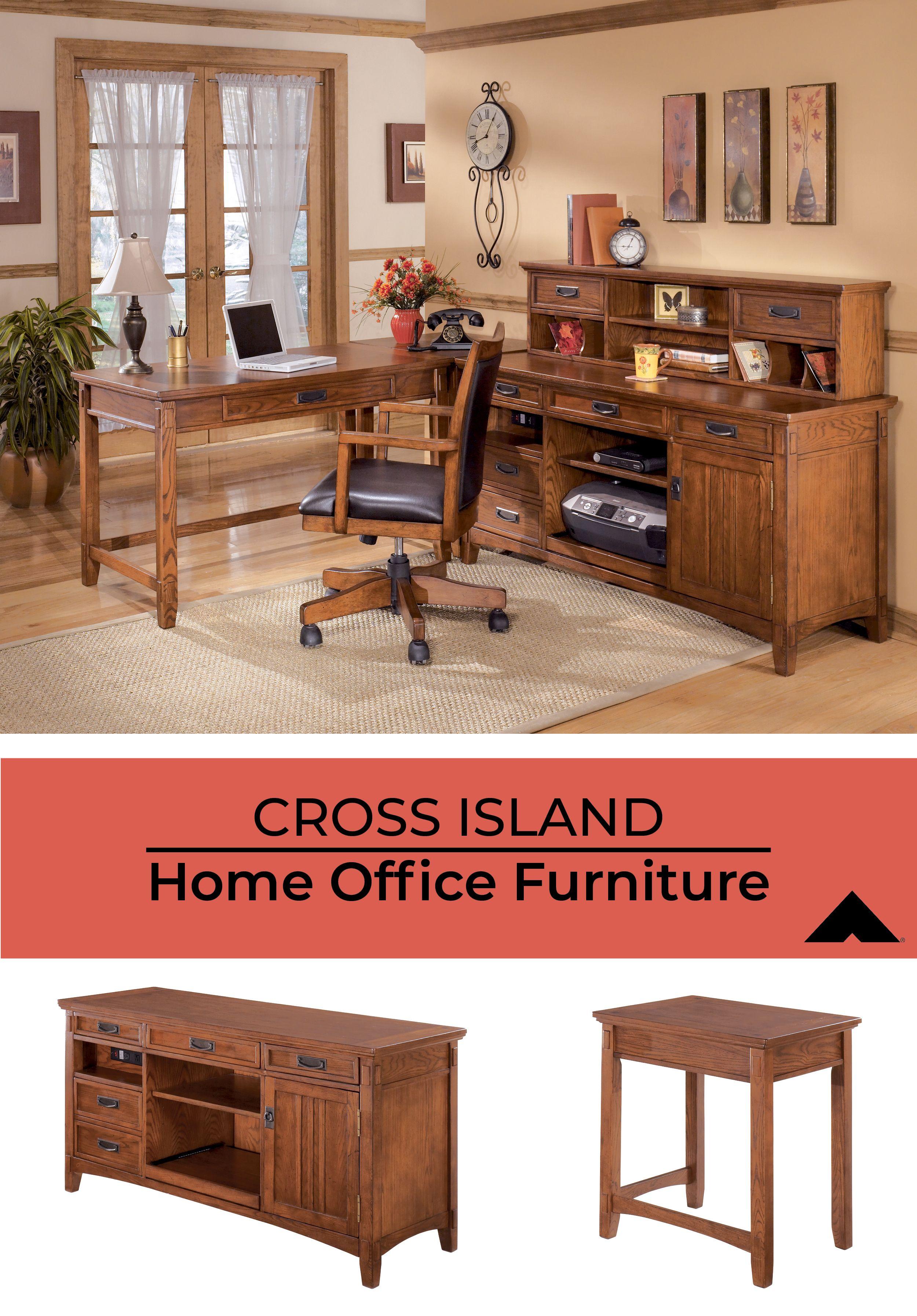 Cross Island Medium Brown Home Office Furniture By Ashley Furniture Ashleyfurniture Homeoffice Homedecor Desks Fur Home Home Office Furniture Furniture
