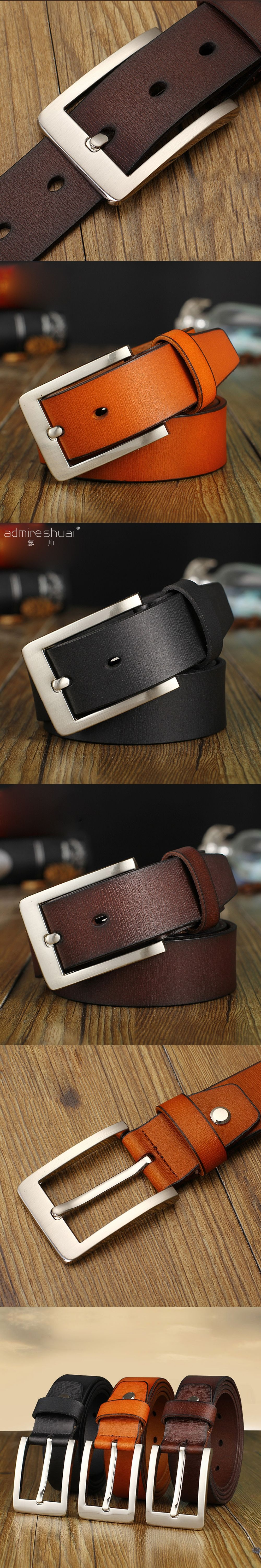 Luxury Retro Designer Belts Men High Quality Leather Belts For men Jeans  Pin Buckle Ceinture Homme 61a0ad41250