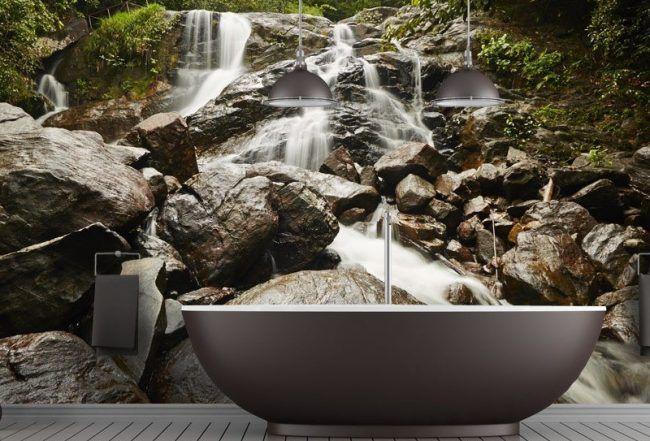 Badezimmer Ideen Fur Kleine Bader Fototapete Als Wanddeko Badezimmer Tapete Badezimmer Fototapete