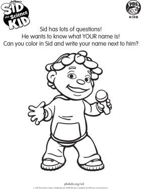 sid the science kid coloring pages # 33