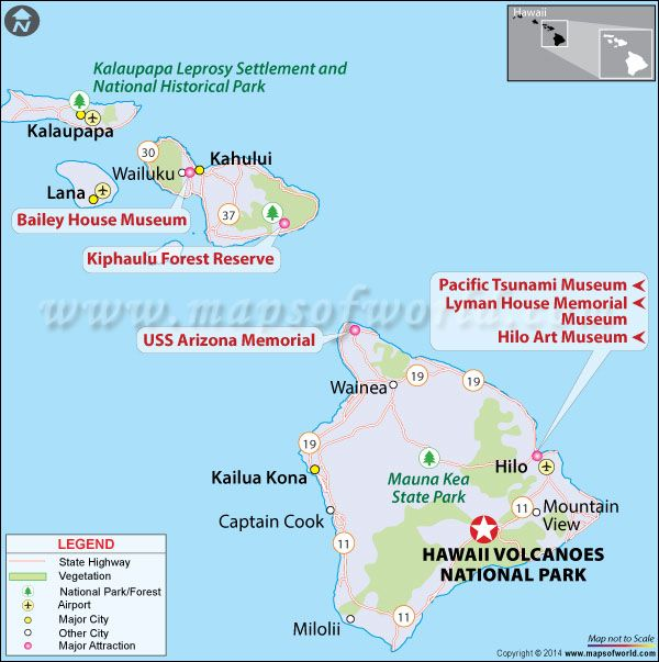 Information About Hawai I Volcanoes National Park Location Facts