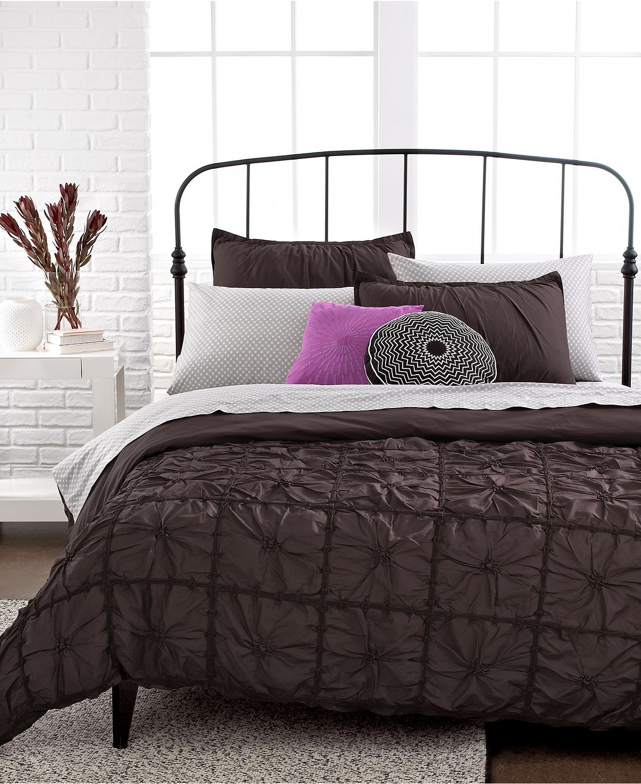 Knotted Squares 3 Piece Queen Duvet Cover Set - Sale Bed ...