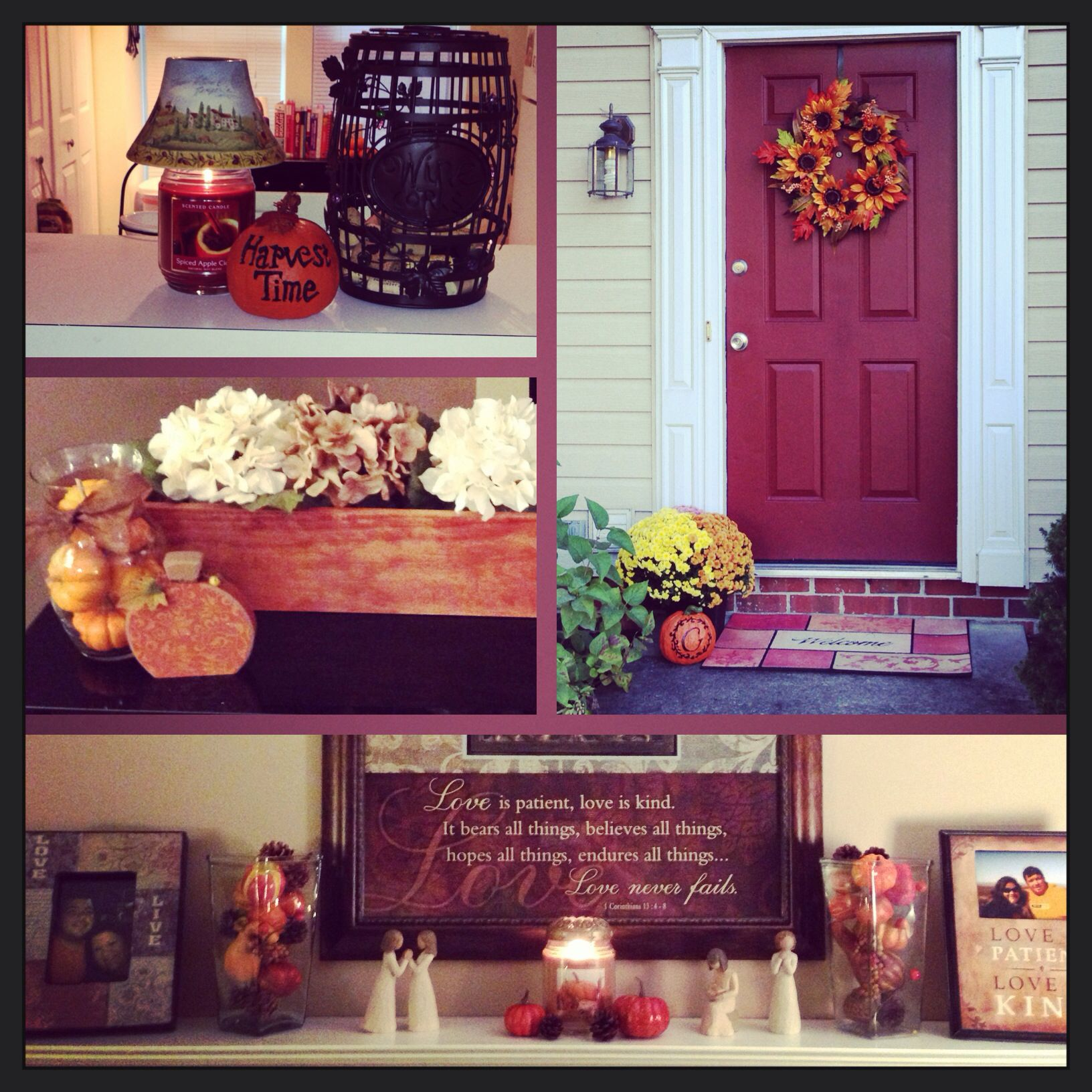 Window decor for fall  fall decorations falldecor fallmantle mantle homedecor  for the