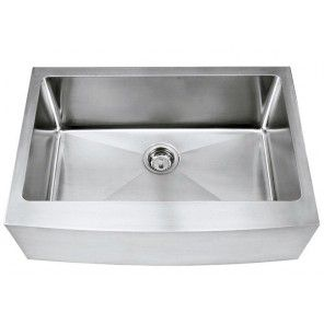 30 Inch Stainless Steel Curved Front Farm Apron Kitchen Sink 1 Radius Design Single Bowl Stainless Steel Farm Sink Apron Sink Kitchen Farmhouse Sink Kitchen