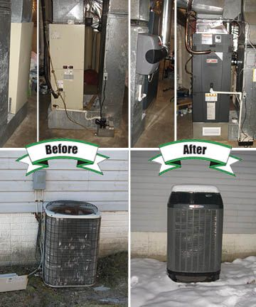 Older Bryant Heat Pump Replaced With New Trane Xl20i Heat Pump Tam Variable Bryant Heat Pump Hvac Services Heat Pump