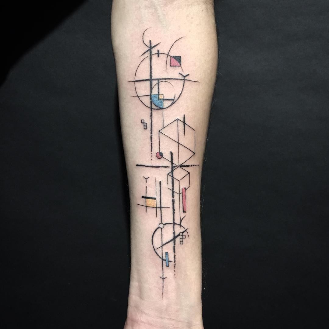 Instagram geometric tattoo tattoo designs men
