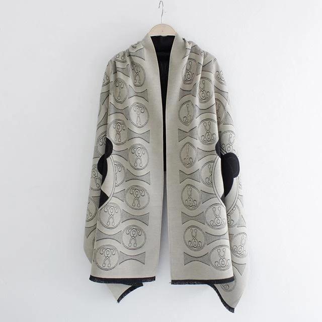 New winter female imitation cashmere shawl air