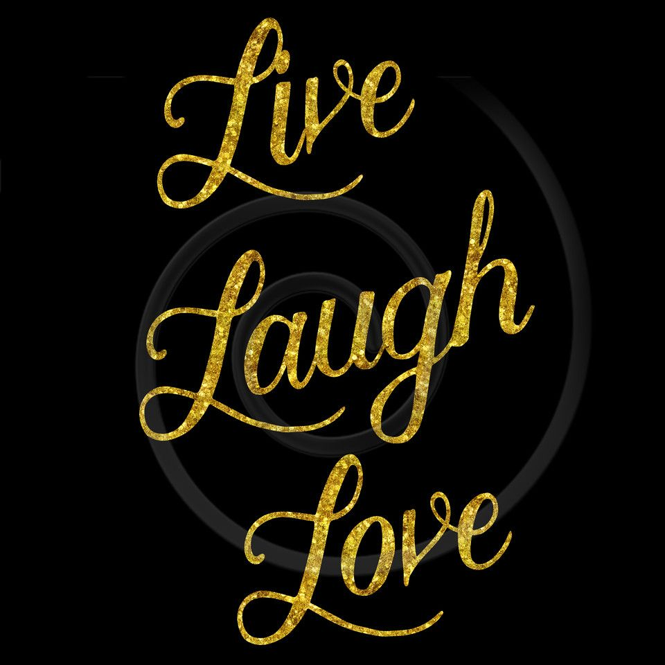 Live Gold Quotes Custom Live Laugh Love Gold Quote Copyx2 960×960  Icons