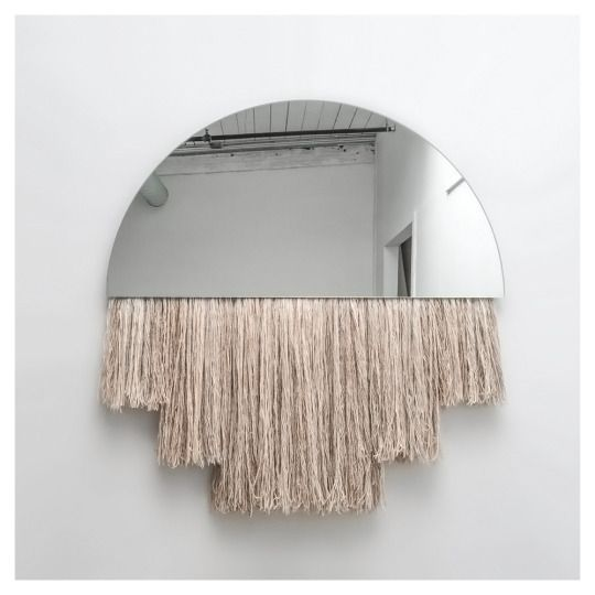 Large Half Moon Mirror