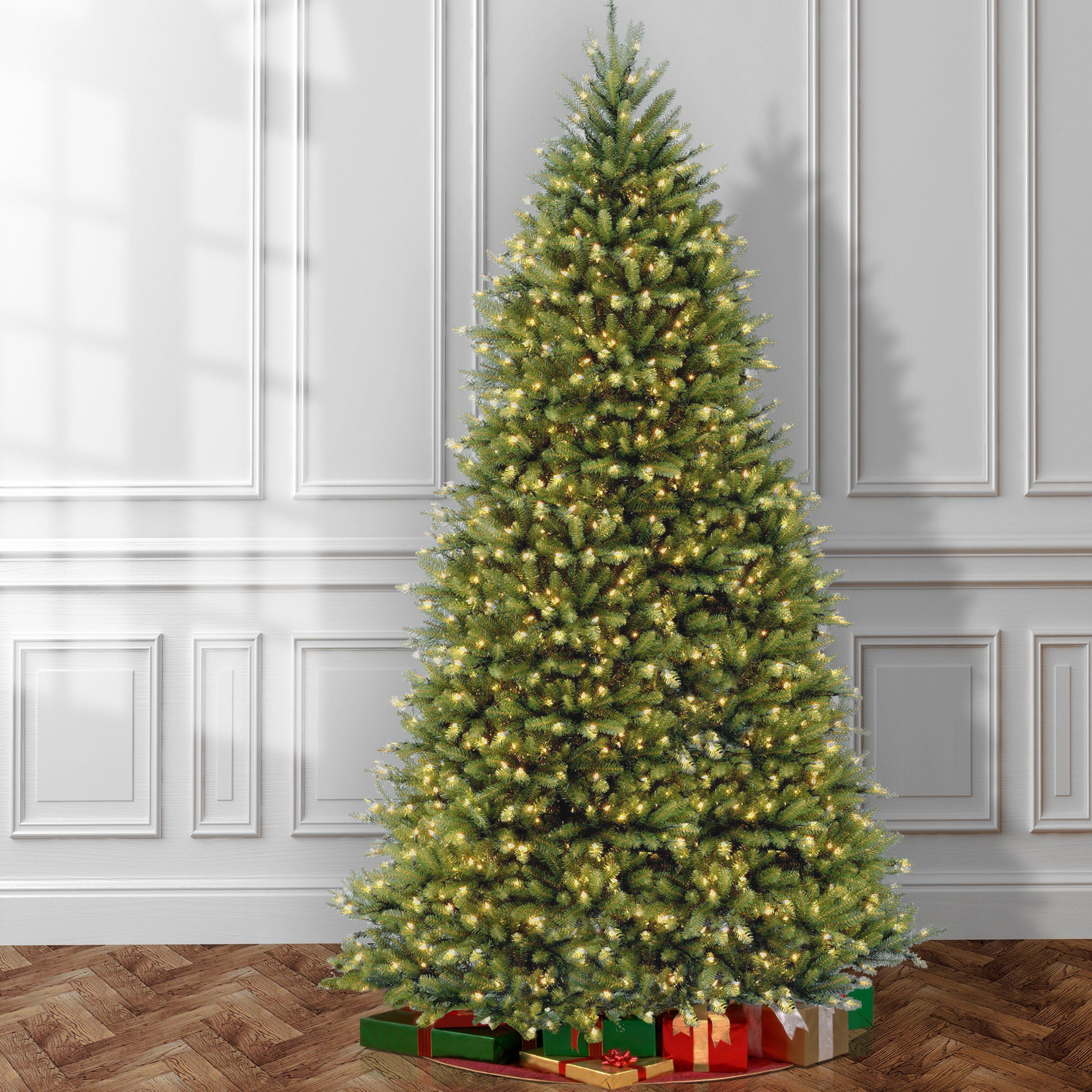 National Tree 12 Foot Dunhill Fir Tree With 1500 Clear Lights Hinged Duh120los Detail Pre Lit Christmas Tree Best Artificial Christmas Trees Christmas Tree