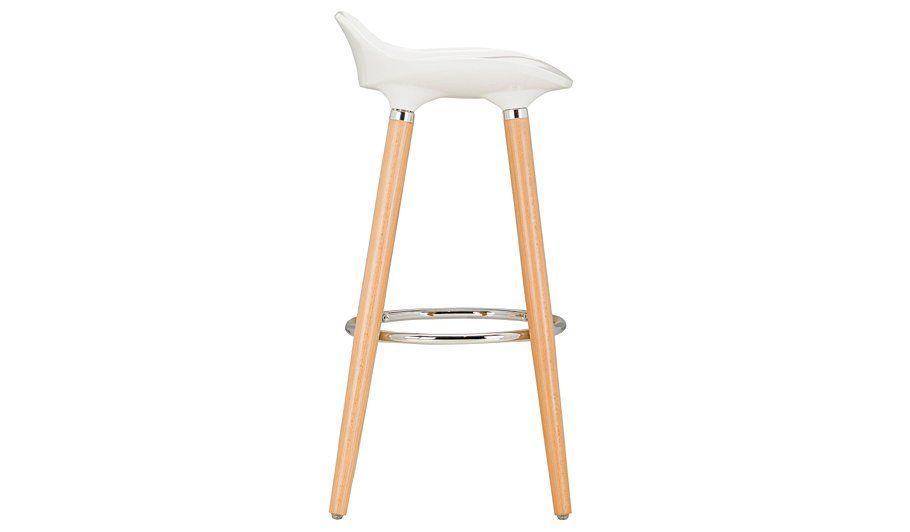 Brooklyn Bar Stool - Oak and White   Bar stool, Stools and Bar