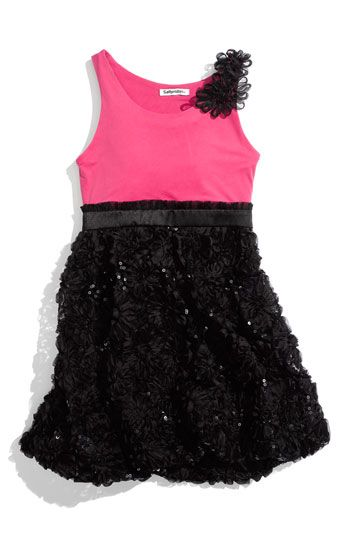 Sally Miller Floral Sequin Dress  black / pink #sallymiller