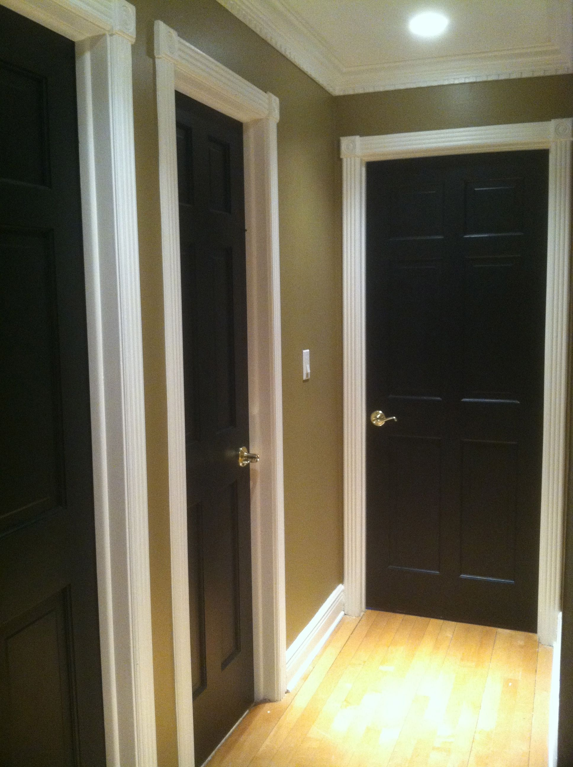 Black doors with white trim - Black Doors With White Trim Love This Idea Going To Try In My