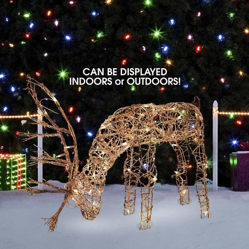 Outdoor/Indoor Christmas Grazing Reindeer Lighted DisplayOutdoor/Indoor Christmas Grazing Reindeer Lighted Display