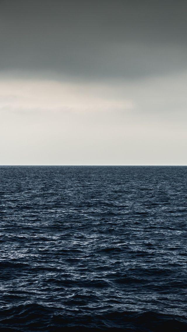640x1136 Море, горизонт, волны обои iPhone 5S, 5C, 5 ...