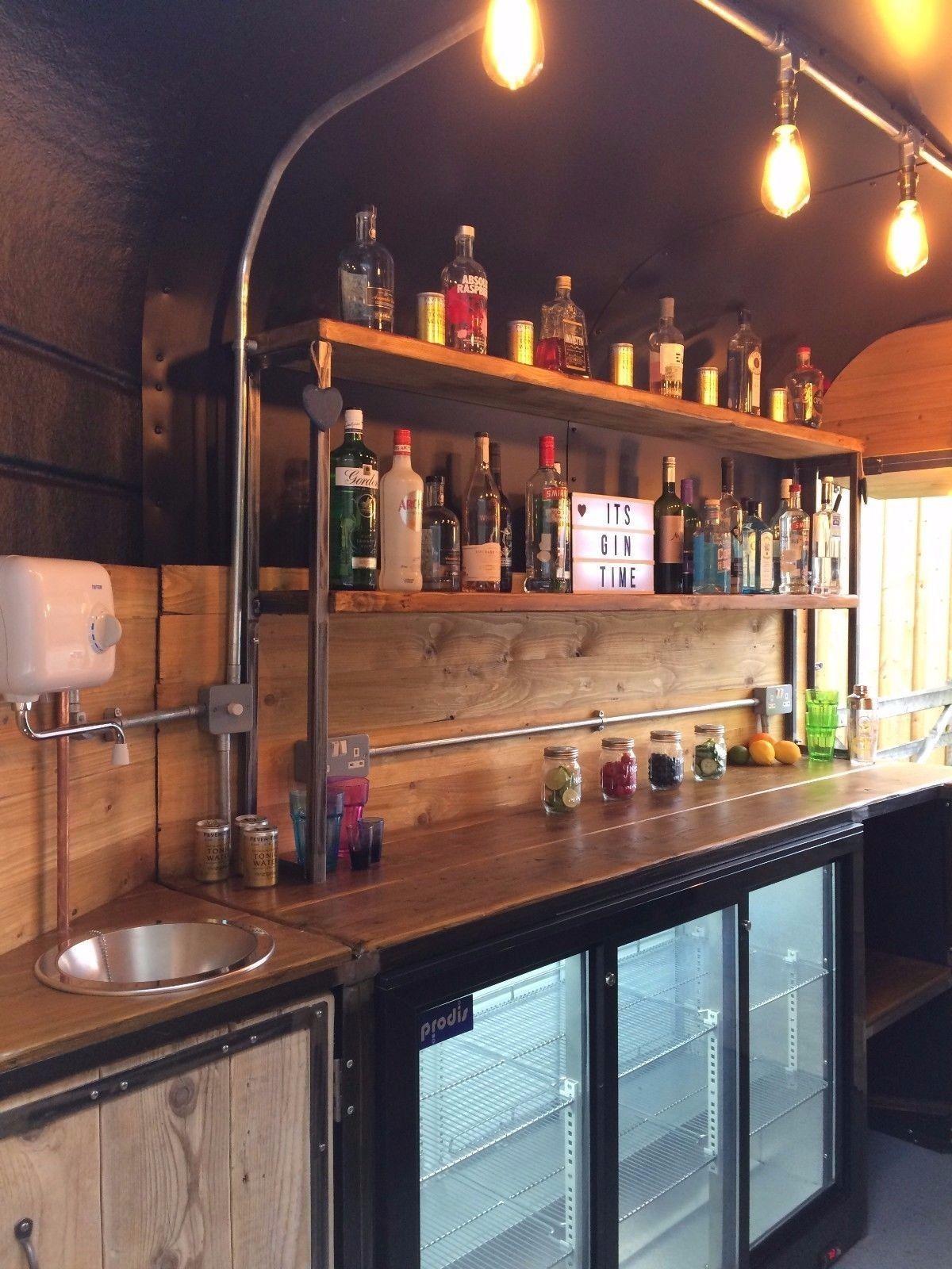Horse Trailer Mobile Bar Gin Fizz Coffee Wedding