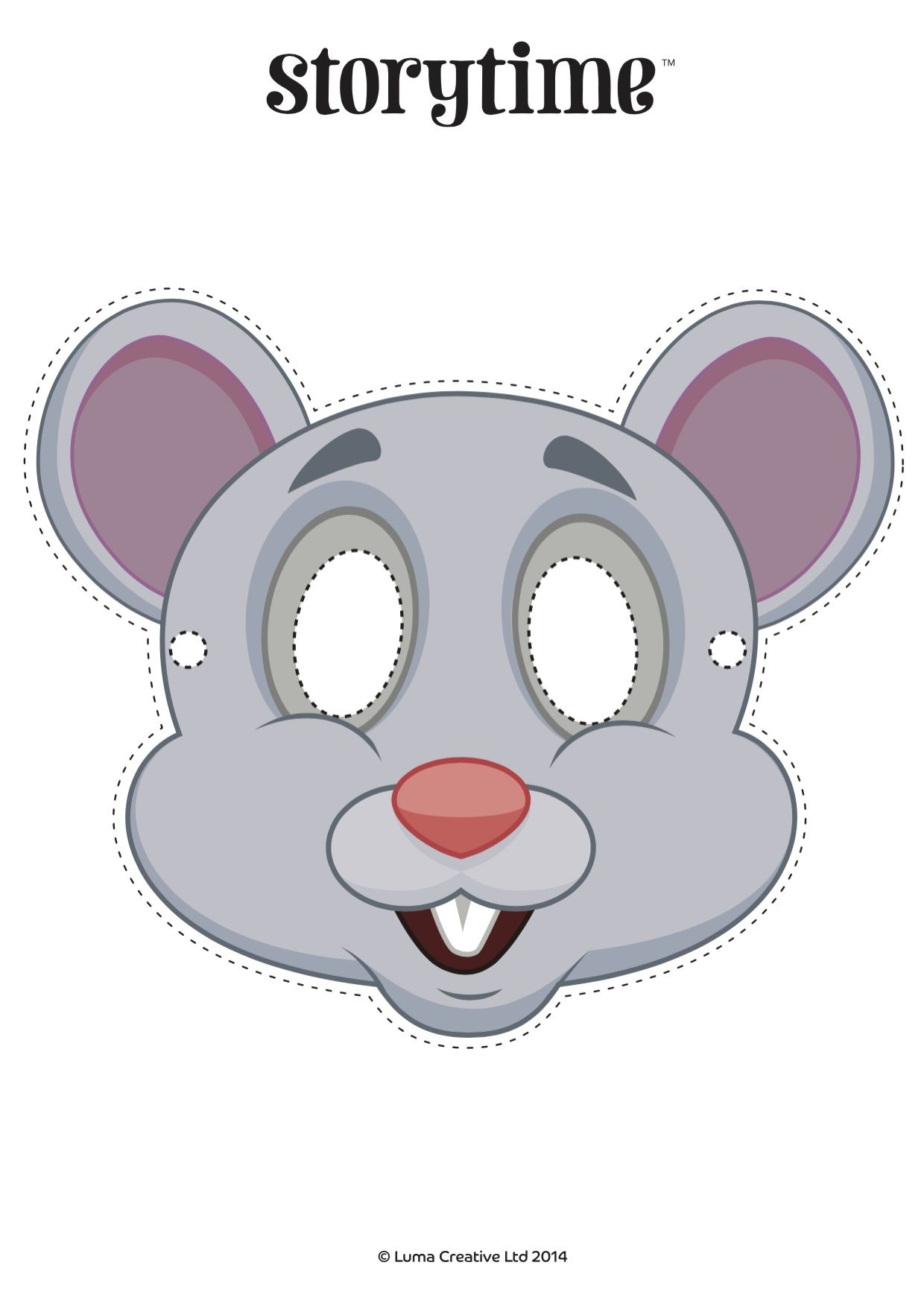 Act Out The Lion And Mouse Fable From Storytime Issue 2 Using Our Free Printable Mask