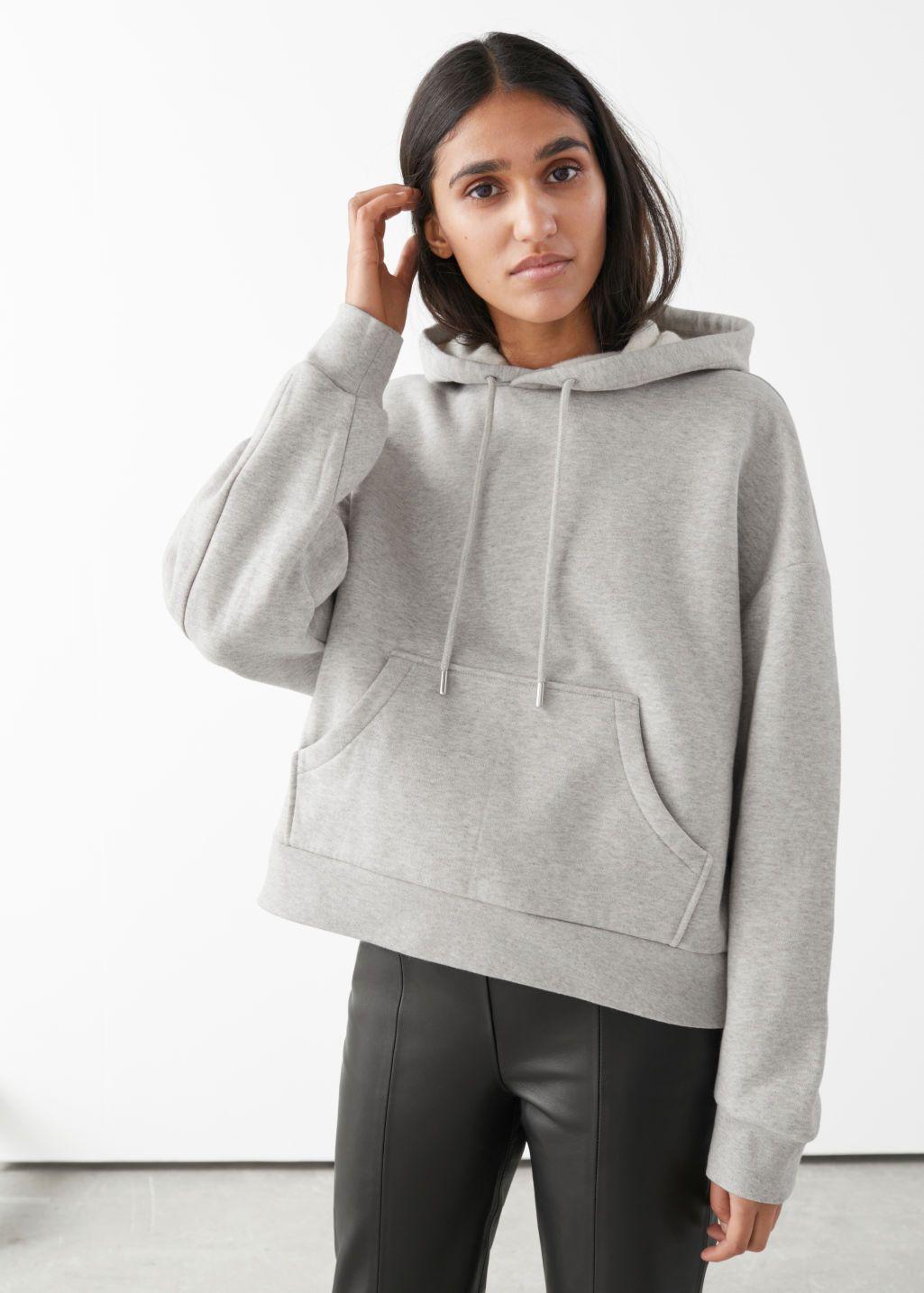 Oversized Boxy Hooded Sweatshirt Hooded Sweatshirts Chic Sweatshirt French Girl Style Outfits [ 1435 x 1025 Pixel ]