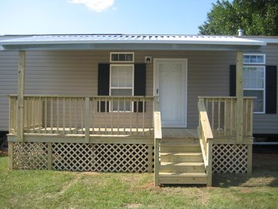 Front Porch With Metal Cover For Mobile Home Mobile Home Porch