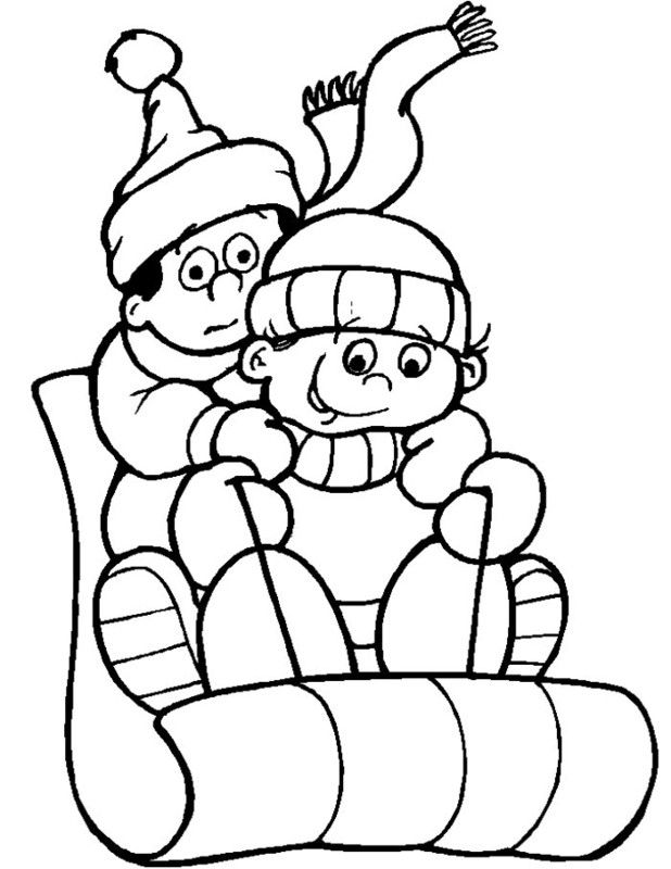 winter coloring pages - Winter Coloring Pages Free