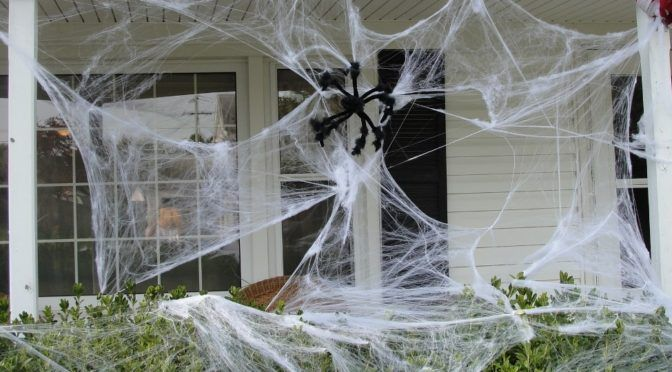 Spider Webs Outdoor Halloween Decorations - Decoration Love