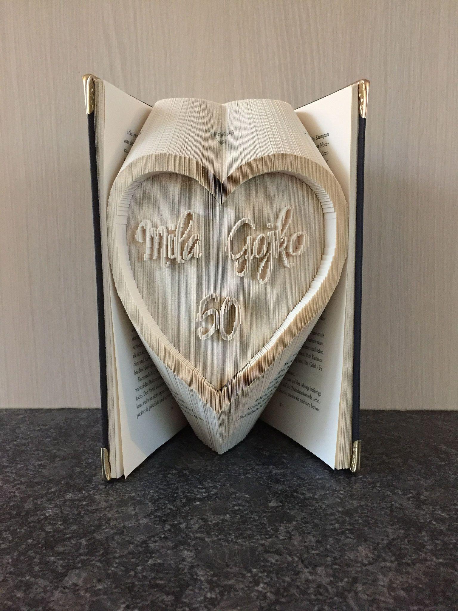 Gefaltetes Buch 50 Jahre Goldene Hochzeit Bücher