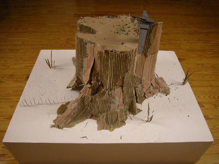 Artist: Ernesto Caivano, Title: Blade Row and Stump (the stump), 2003 - click to close window