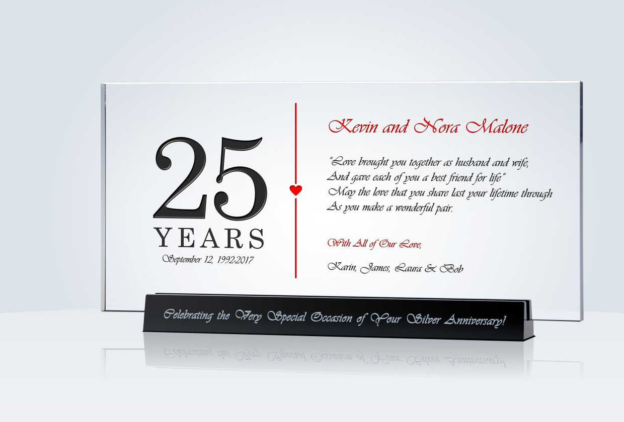25th anniversary gift 25th anniversary gifts 25th