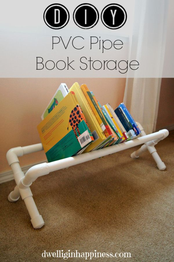 DIY PVC Pipe Book Storage in 2018 | crafts | Pinterest | Book ...