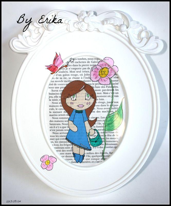 Petit bout Iris, dessin posca encadré by Erika - tableaux, peintures - dessiner sa chambre en d