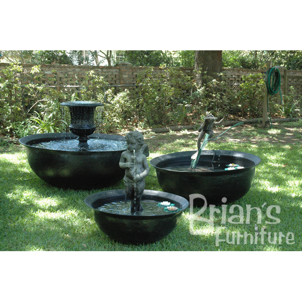 Perfect Fiberglass Sugar Kettles With Fountains | Brianu0027s Furniture