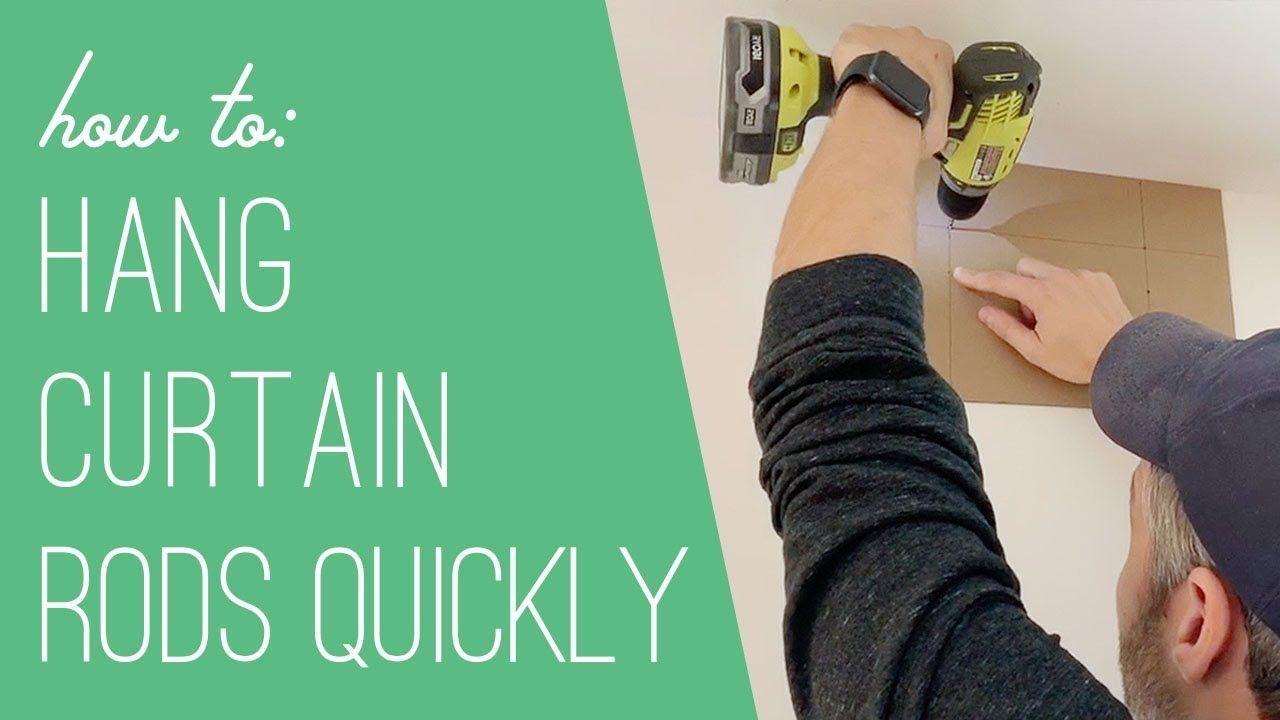A trick for hanging curtain rods faster youtube