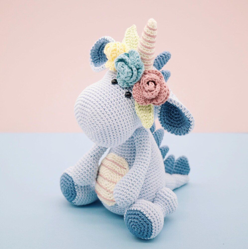 Lavender Unicorn Crochet Pattern ONLY not a finished product ... | 1000x998