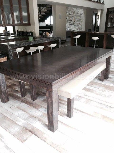 Convertible Dining Billiard Pool Table Vision Pool
