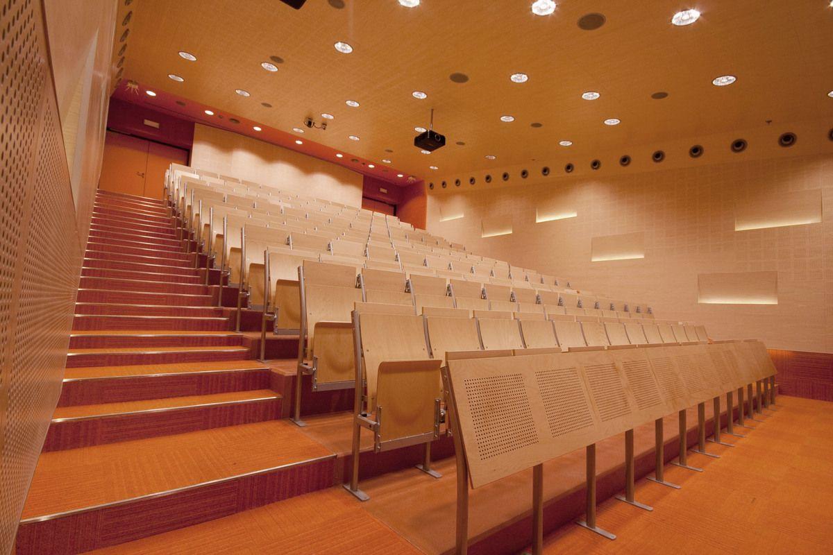 Auditoriums A B C At Silesian University Of Technology In Gliwice Zalewski Architecture Group Archinect Lectures Hall Architecture Auditorium