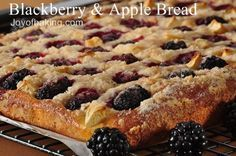 A rich brioche-type yeast bread smothered in blackberries