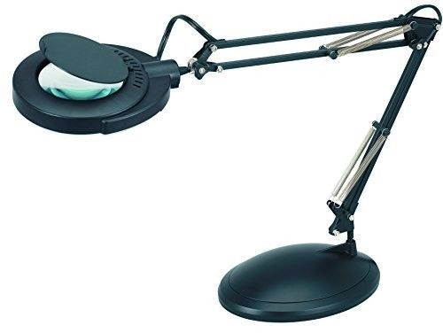 Magnifying Desk Lamp Magnifier Glass Workstation Repair Lens Task Light Table