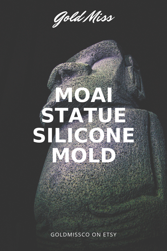Silicone molds on Etsy | DIY moai statue silicone mold | easter