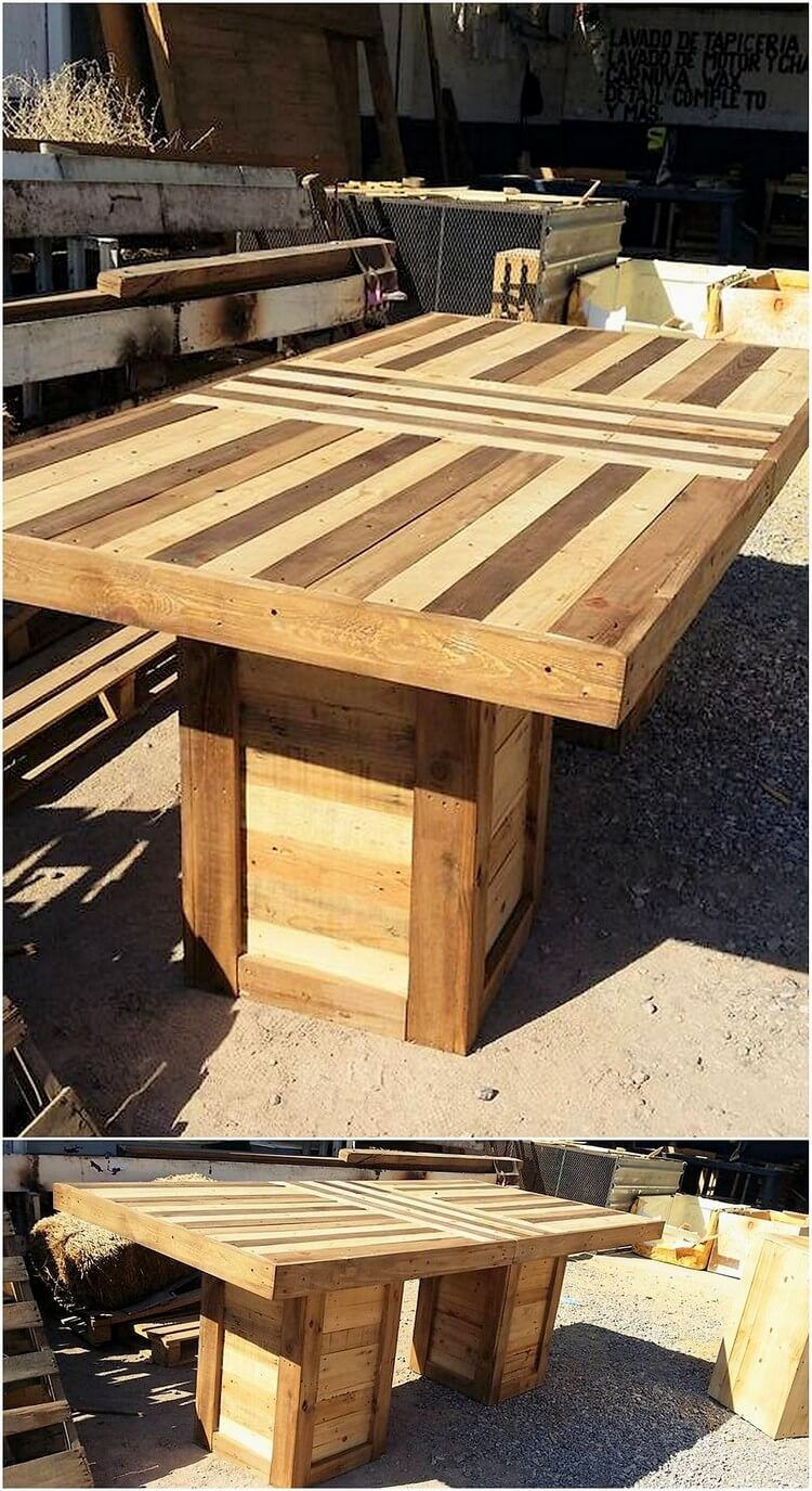 Wood pallet material can be dramatically used