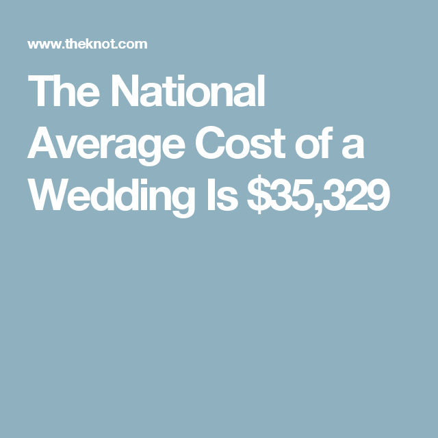 This Is The National Average Cost Of A Wedding