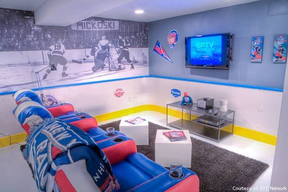 The Nhl Hockey Cave Hockey Man Cave Man Cave Home Bar Man Cave