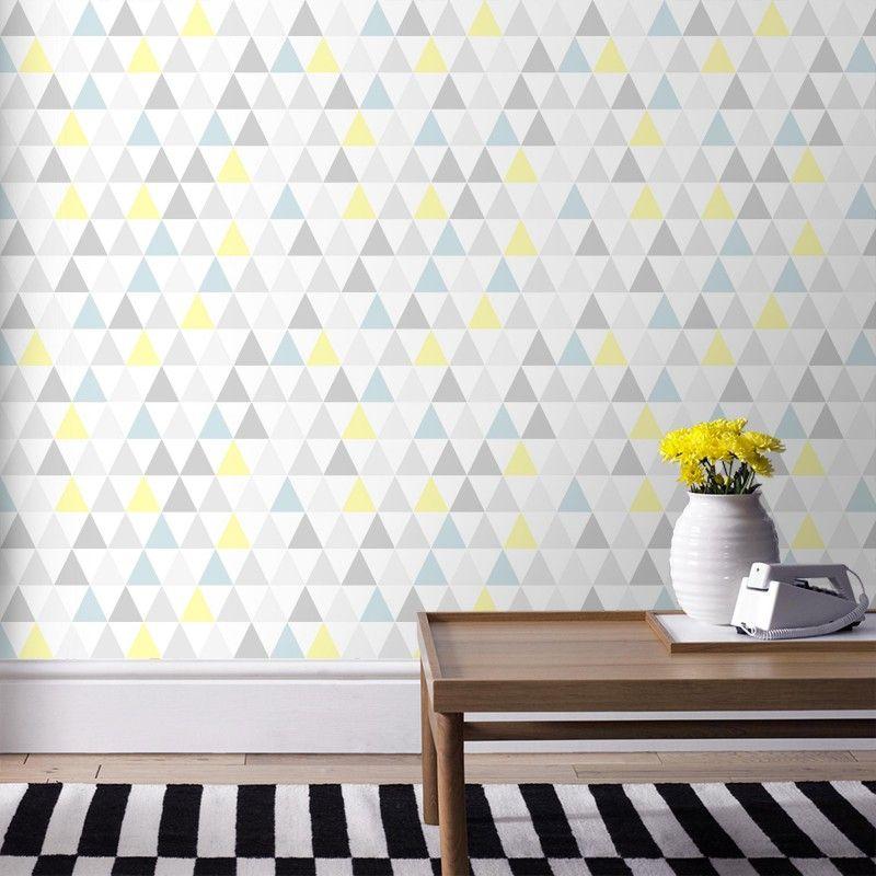 papier peint tarek triangles papier peint scandinave. Black Bedroom Furniture Sets. Home Design Ideas