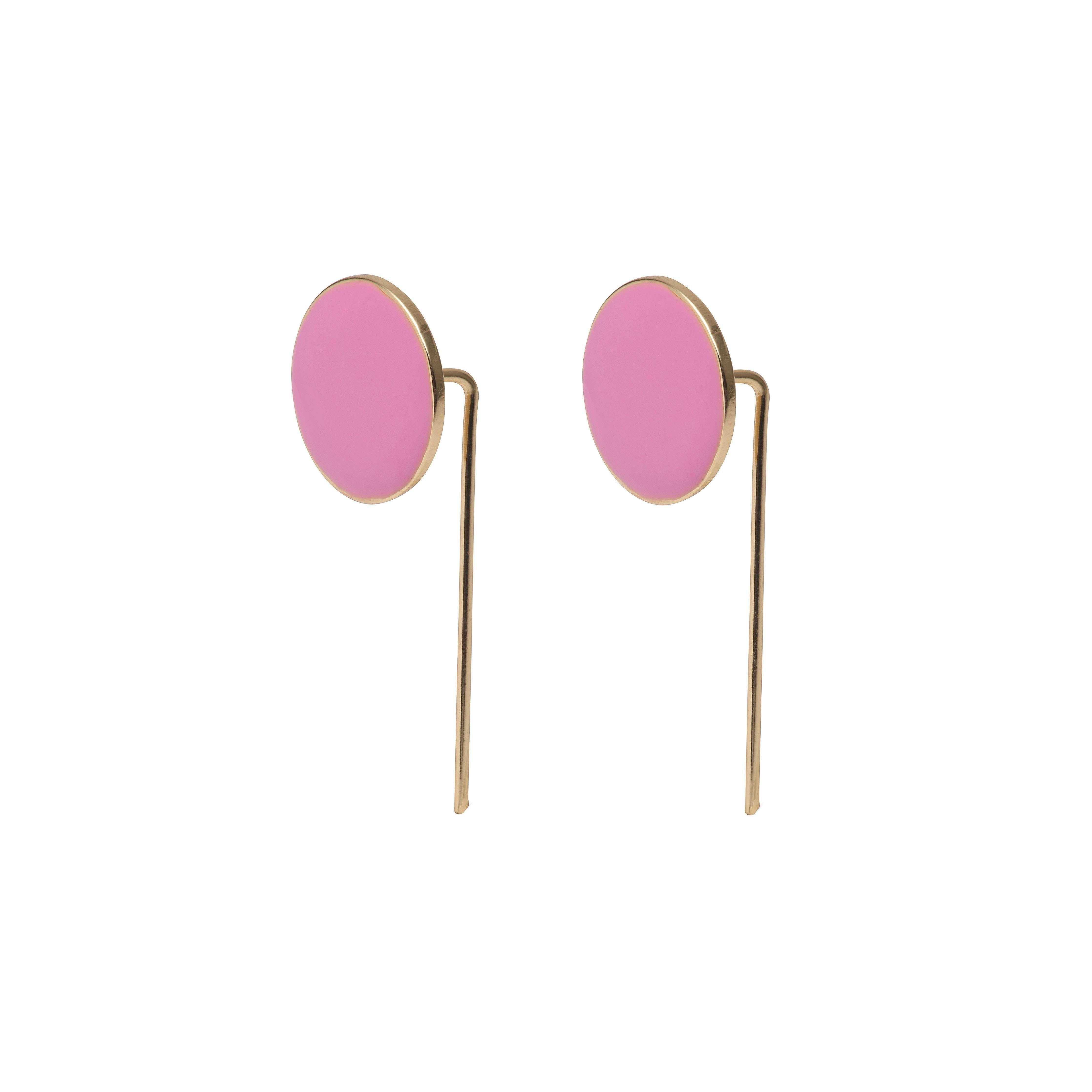 Örhängen   Earrings   Guldpläterad   Pink  33548b249634a