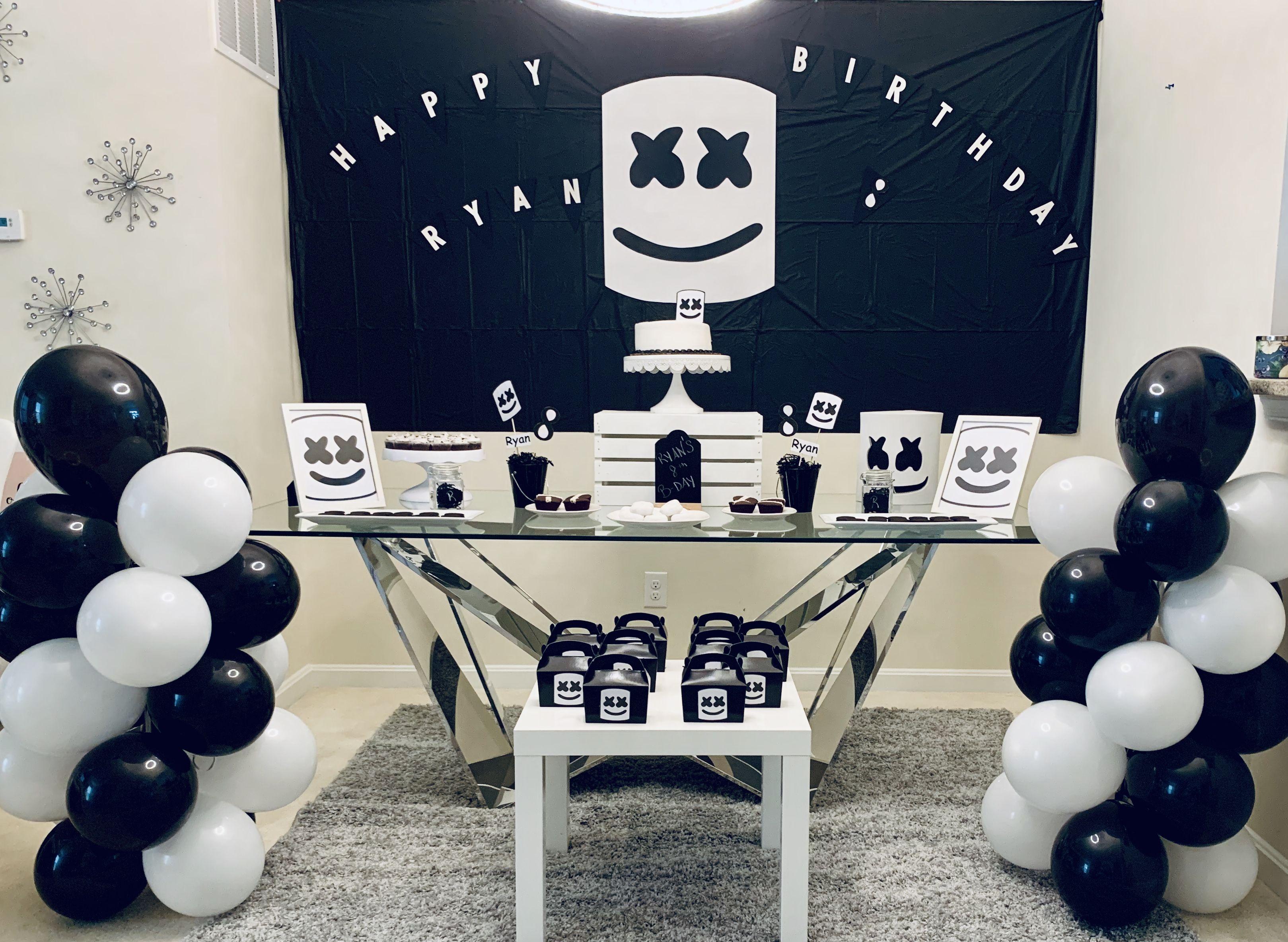 Dj Marshmello Bday Party Fortnite Birthday Party Fortnite Birthday Bday Party
